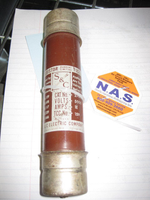 S&C 270001 Fusistor Current Limiting Fuse