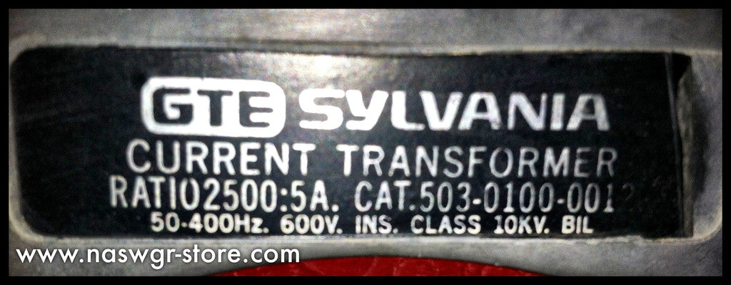GTE Sylvania 503-0100-001 Current Transformer , Ratio 2500:5A