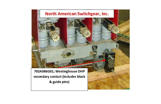 792A086G01; Westinghouse DHP secondary contact (includes block & guide pins)