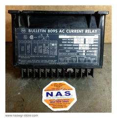 809S-AB010A1 , Allen Bradley Bulletin 809S AC Current Relay , Series A , Supply Voltage 120 60 Hz , INHIBIT Voltage 120 60 Hz , Max. Continuous Current 7.5 AC Amperes , Trip Current .42-5.0 AC Amperes , PN: 809S-AB010A1