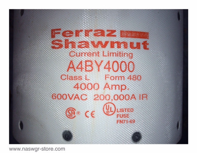 "A4BY4000 ~ Ferraz Shawmut A4BY4000 Current Limiting Fuse ""Unused"""