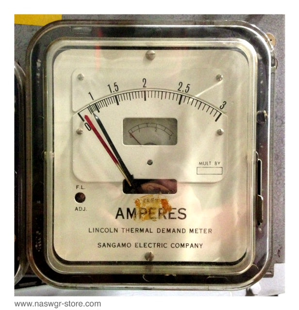 ADF , Sangamo Electric Company ADF Thermal Demand Meter , Type: ADF , 50/60 Hz. , 3 Amps , Spec: 79015 , PN: ADF