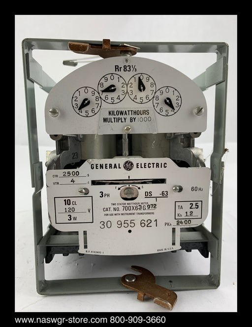 700X63G972  ~  GE 700X63G972 Polyphase Watthours Meter