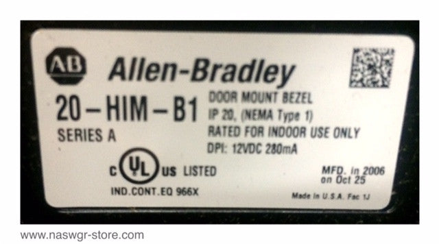 20-HIM-A3 , 20-HIM-B1 , Allen Bradley Door Mount Bezel