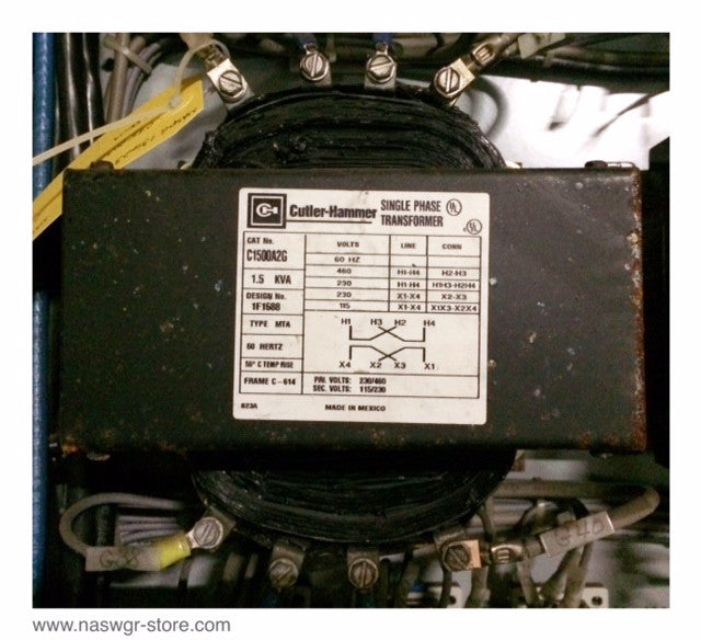 C1500A2G ~ Cutler Hammer C1500A2G Single Phase Transformer