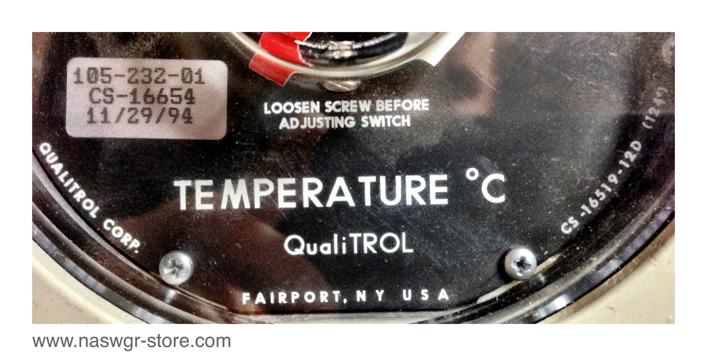 Qualitrol Corp. 105-232-01 Remote Mount Thermometer