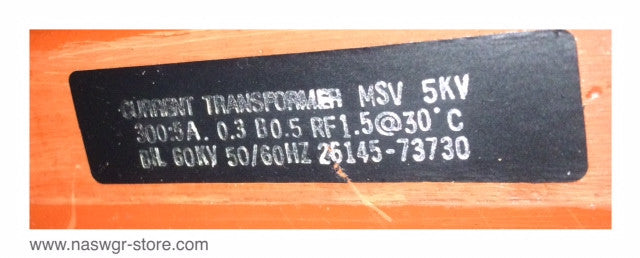 26145-73730 , Current Transformer , 300:5A , 50/60 Hz. , 2614573730