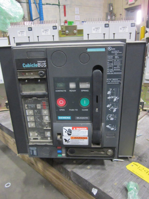 WLS2A316 Siemens Low Voltage AC Power Breaker Frame