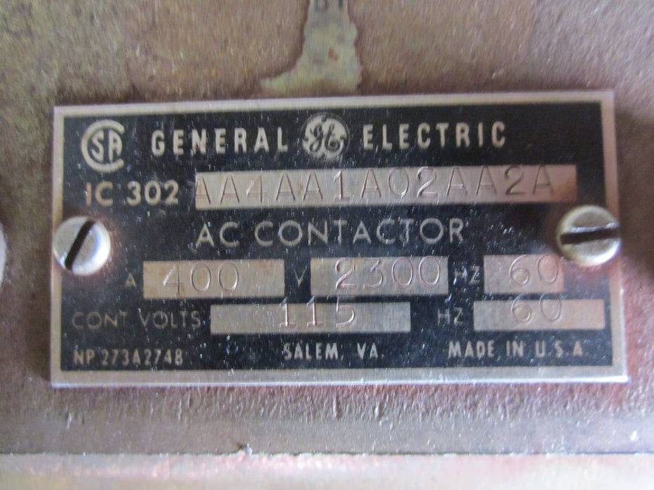 IC302AA4AA1A02AA2A General Electric AC Contactor