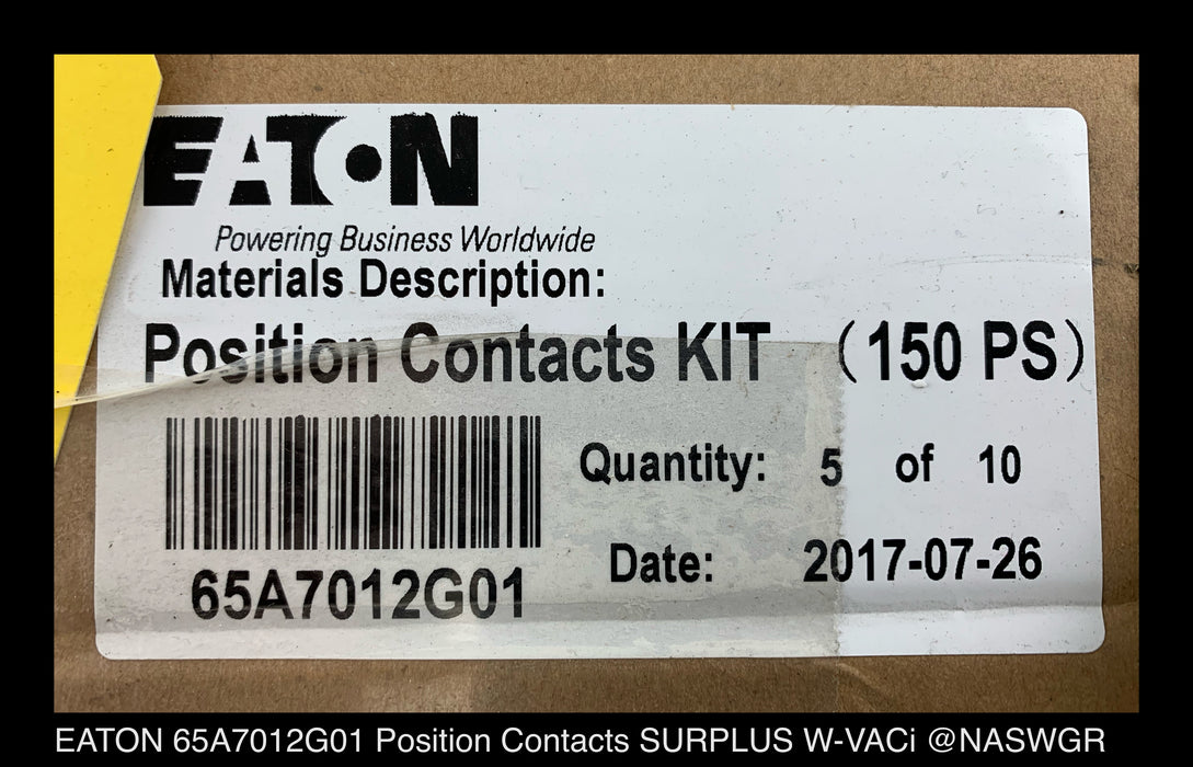 EATON 65A7012G01 Position Contacts Kit for W-VACi