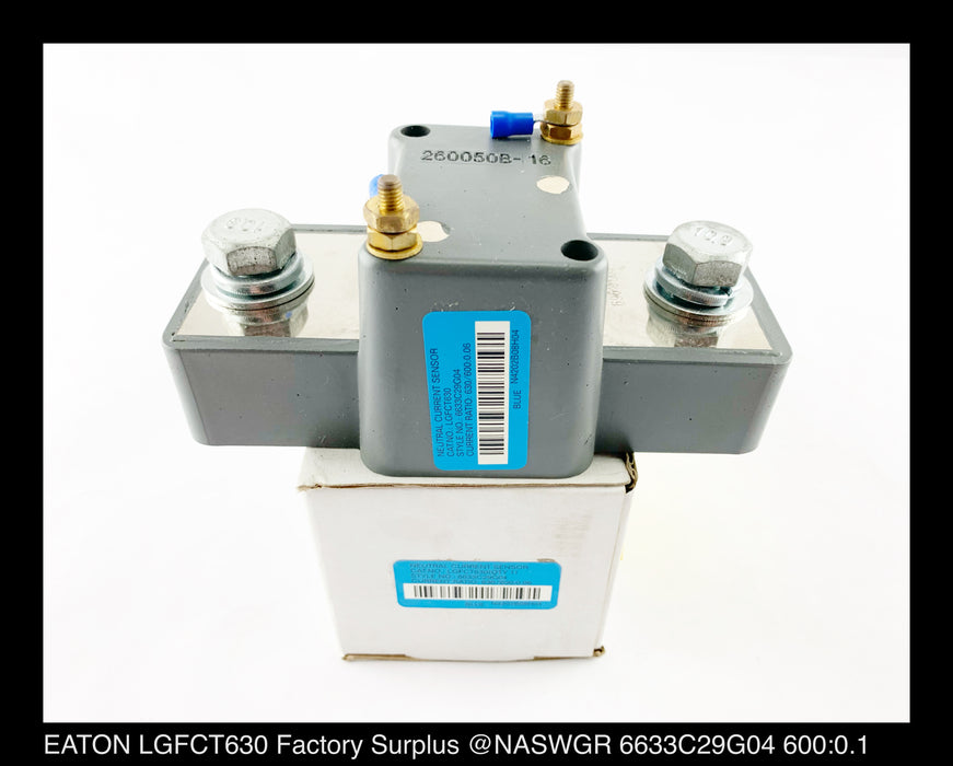EATON LGFCT630 Neutral Current Sensor 600:0.1 Ratio Surplus
