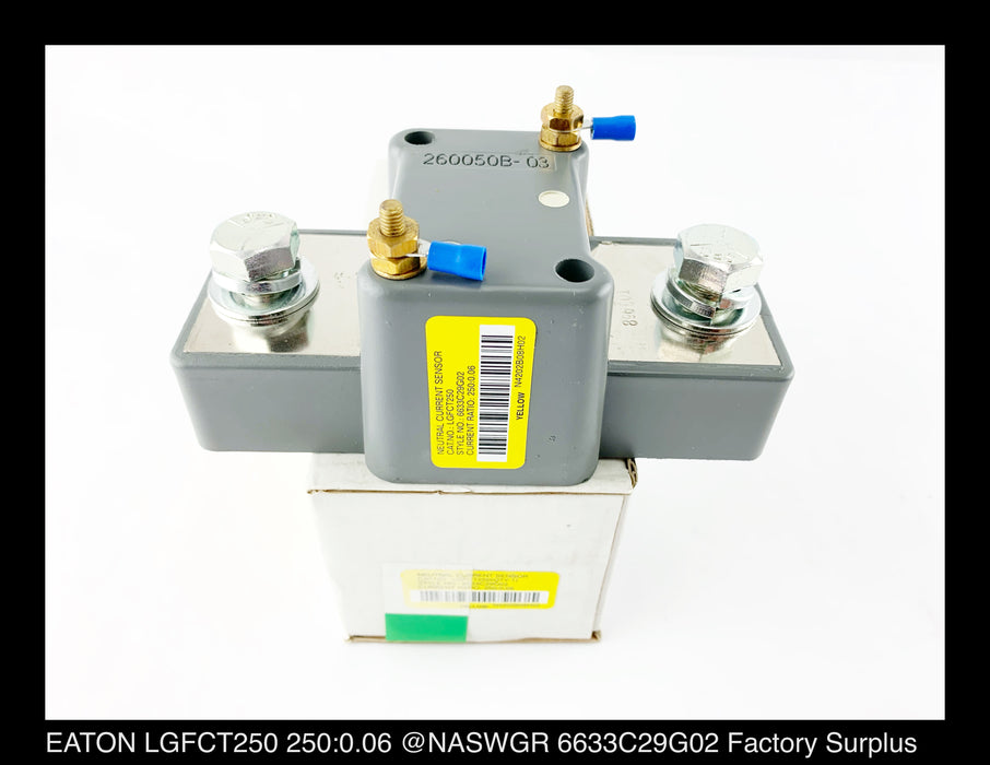 EATON LGFCT250 Neutral Current Sensor 250:0.06 Ratio Surplus