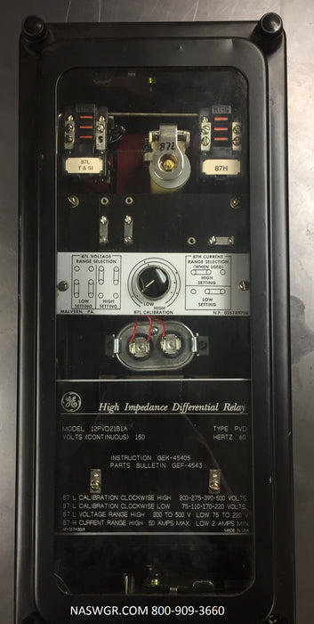 12PVD21B1A ~ General Electric 12PVD21B1A Relay