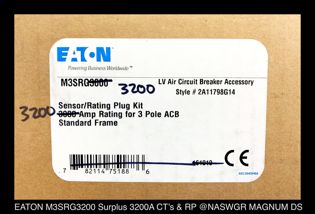 EATON M3SRG3200 Magnum Sensor and Rating Plug Kit Factory Surplus