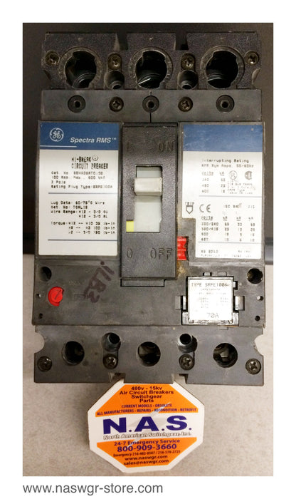 GE SEHA36AT0100 Speactra Series Circuit Breaker ~ 100 Amp