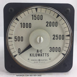 8AB18L5AC1 ~ General Electric 8AB18L5AC1 Meter ~ 3000 AC Kilowatts