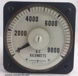 8AB18L5AC1 ~ General Electric 8AB18L5AC1 Meter ~ 9000 AC Kilowatts