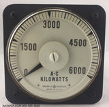 8AB18L5AC1 ~ General Electric 8AB18L5AC1 Meter ~ 6000 AC Kilowatts
