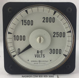 8AB18V7AK1 ~ General Electric 8AB18V7AK1 Meter ~ 3000 AC Volts
