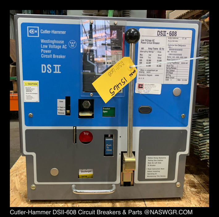 Cutler-Hammer DSII-608 Power Circuit Breaker