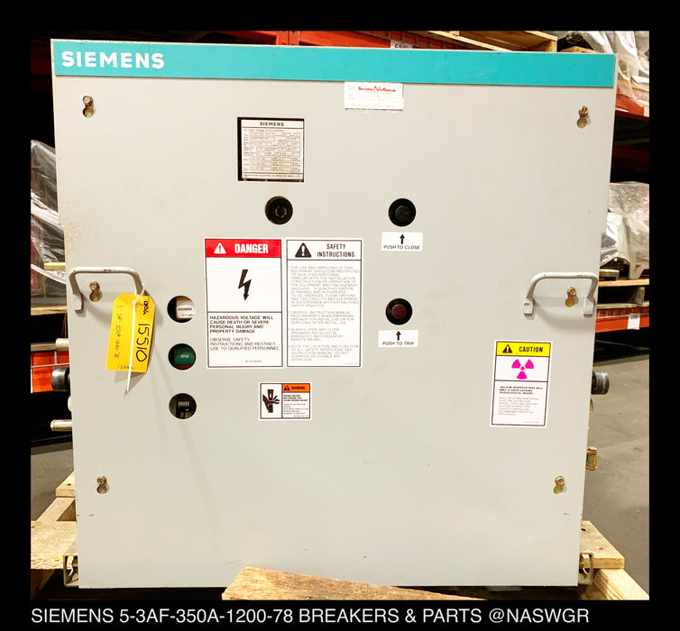 Siemens 5-3AF-350A-1200-78 AC High Voltage Circuit Breaker