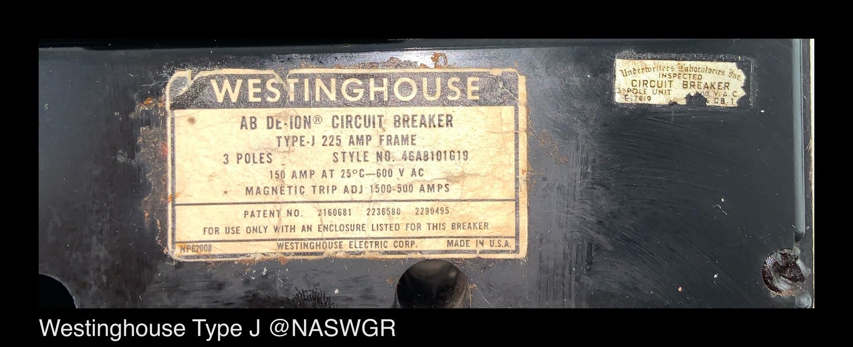 Westinghouse Type J Circuit Breaker