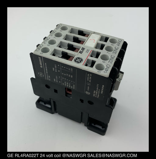 General Electric RL4RA022T Relay CAT#: LB1A1 24V