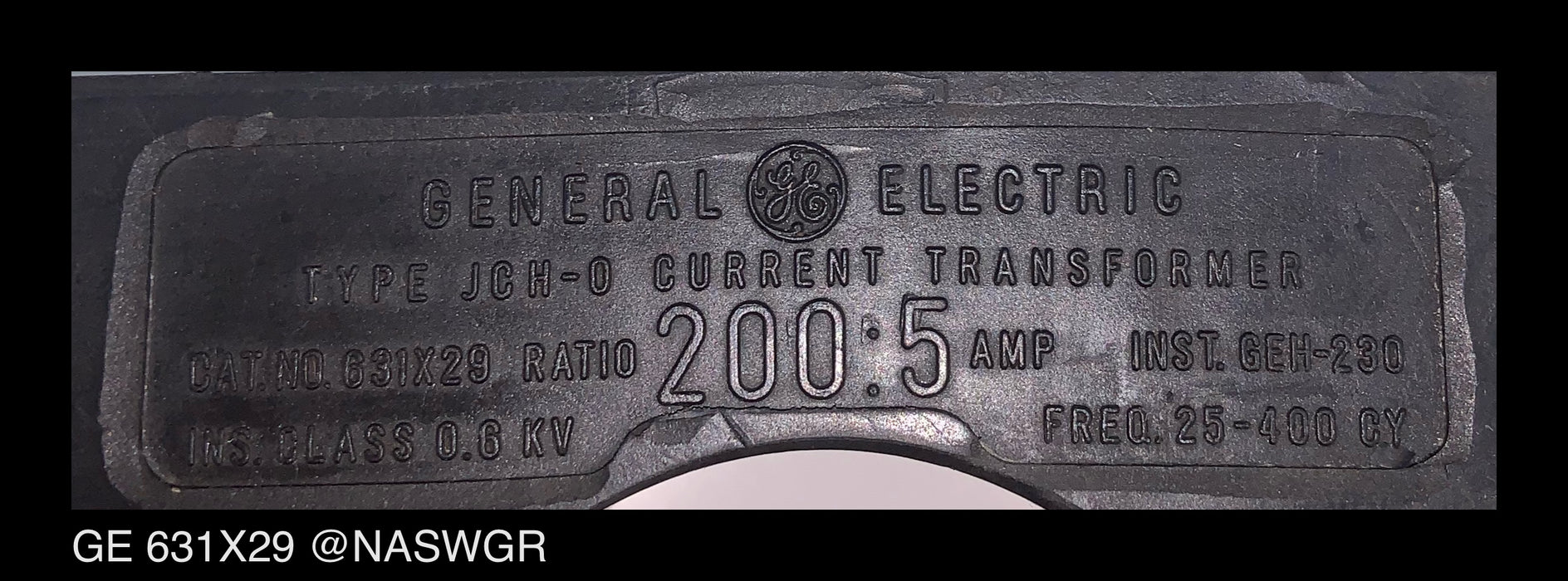 General Electric 631X29 Current Transformer
