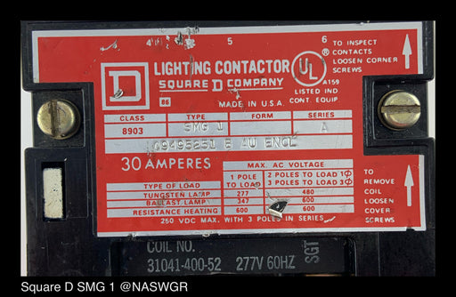 Square D SMG 1 Lighting Contactor
