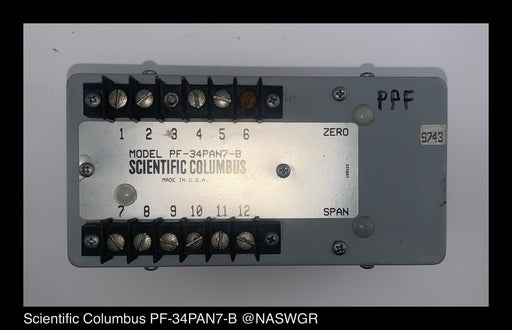 Scientific Columbus PF-34PAN7-B Factor Transducer