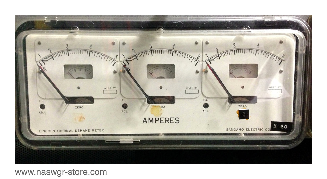 ADHF , Sangamo Electric ADHF Thermal Demand Meter , Type: ADHF , 50/60 Cy. , 5 Amps , Spec: 79004 , PN: ADHF