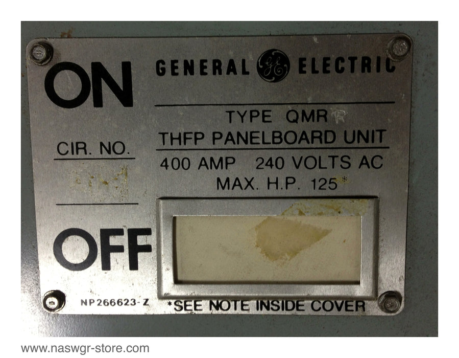 THFP325 ~ GE THFP325 Panel Board Switch ~ 400 Amp
