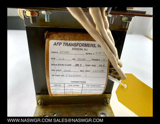AFP Transformers, Inc. 10766C Potential Transformer , GE 573A350P45