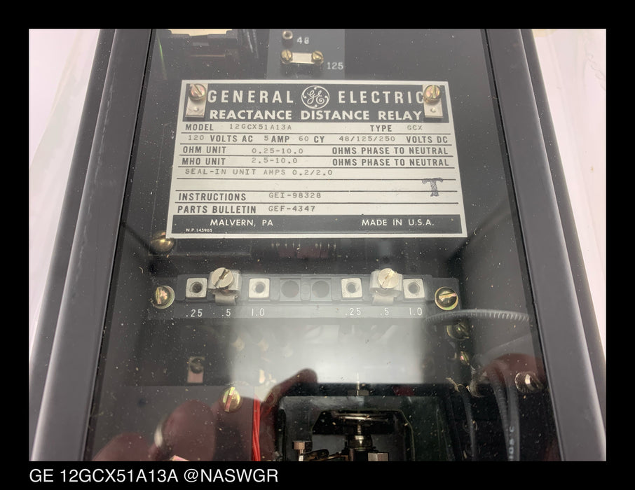 GE 12GCX51A13A Reactance Distance Relay Type GCX Unused Surplus