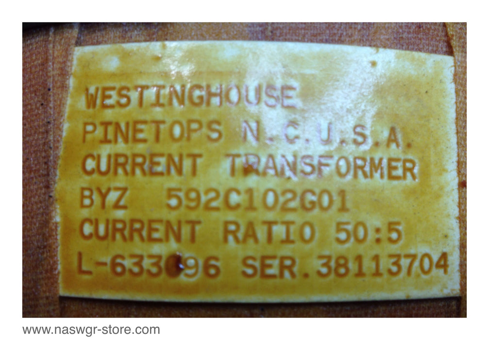 Westinghouse 592C102G01 Current Transformer