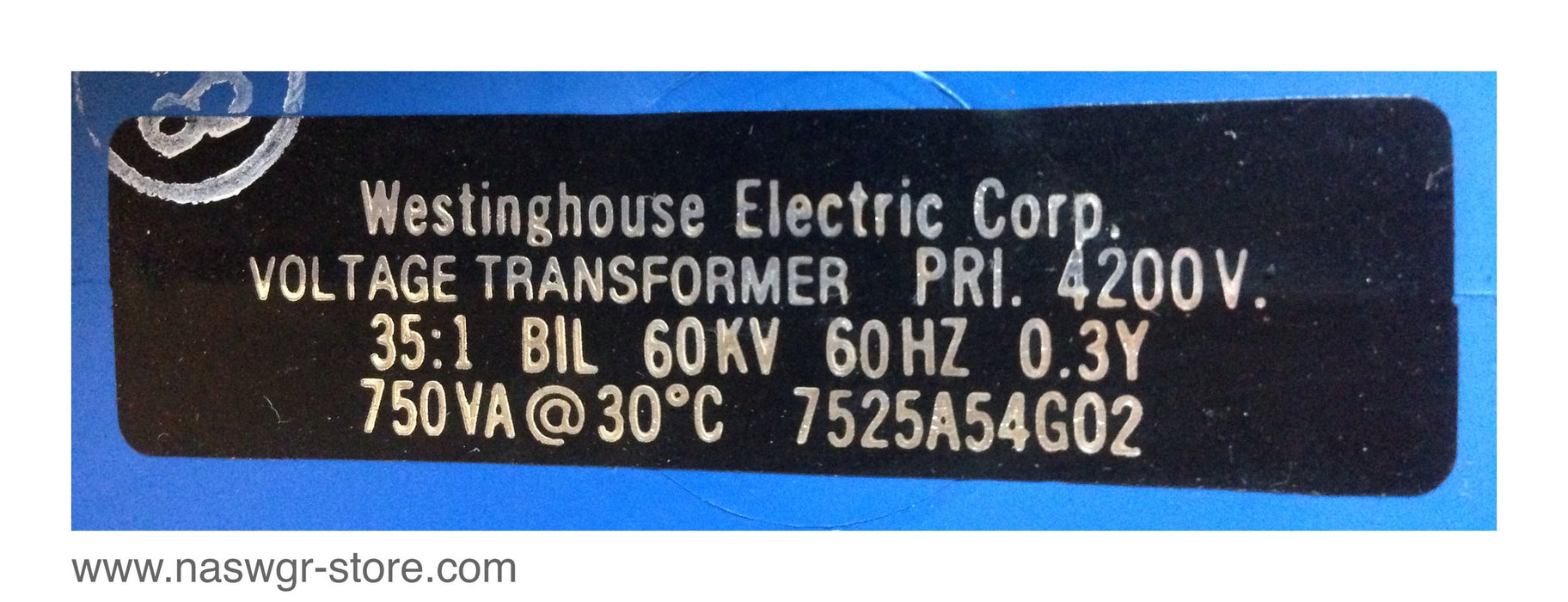 Westinghouse 7525A54G02 Voltage Transformer