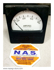 A-351 , Westinghouse A-351 Amperes Meter , 0-800 , Current Transformer Ratio 160/1 , 25-500 Cycles , A-351