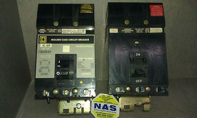 Square D I Line FA34040 molded case circuit breakers