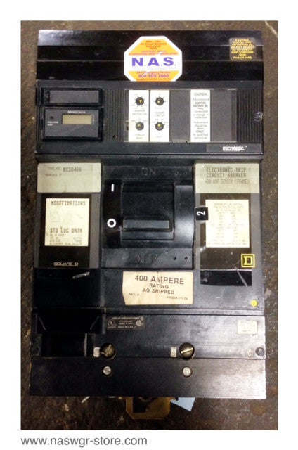 MX36400 ~ Square D MX36400 Circuit Breaker 400 Amp ~ Micrologic Trips 3 Pole I Line Series 5