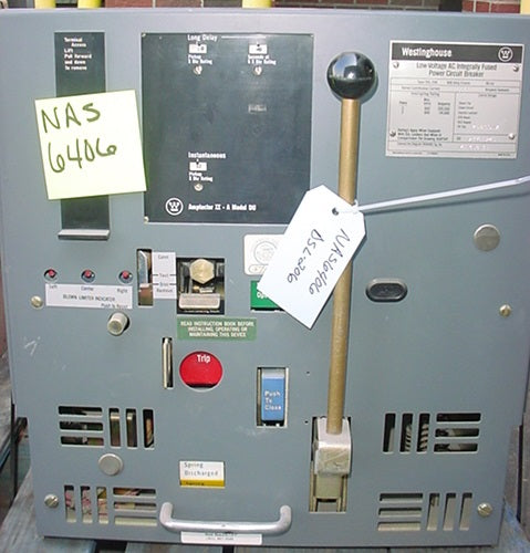 DSL-206 - Westinghouse Low Voltage AC Integrally Fused Circuit breaker