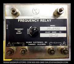 20-050X ~ WILMAR ELECTRONICS MODEL 20-050X FREQUENCY RELAY