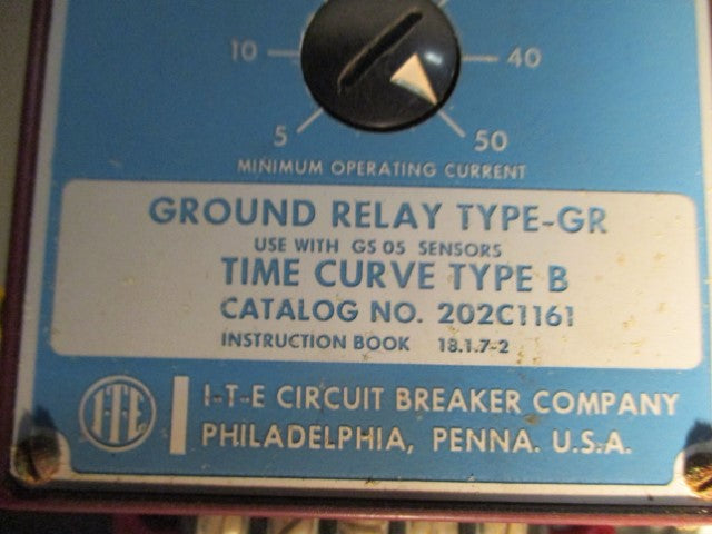 2021161 - Gould - GR-5 Ground Fault Relay