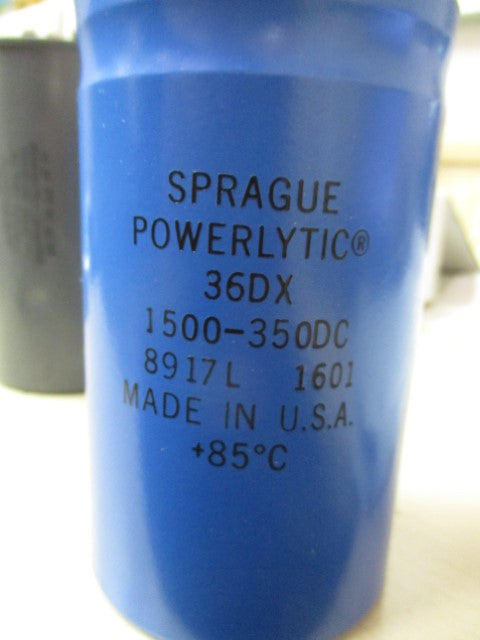 1500-350DC - Sprague Powerlytic - Capcitor
