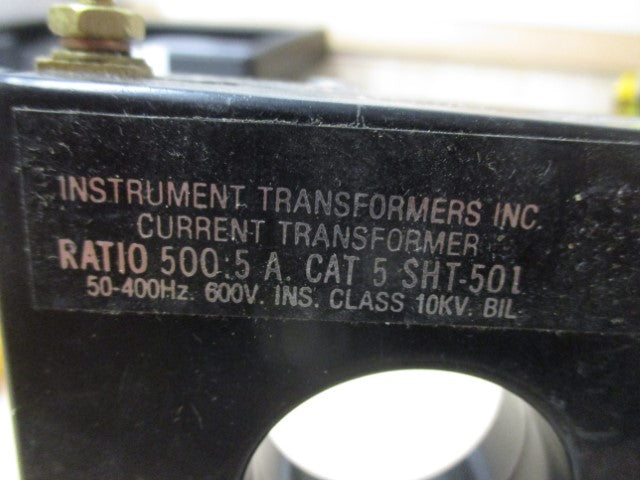 5 SHT-500 - Instrument Transformers - Current Transformer