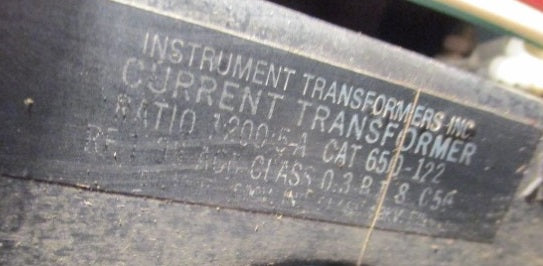 650-122 - Instrument Transformers - Cell Current Transformer
