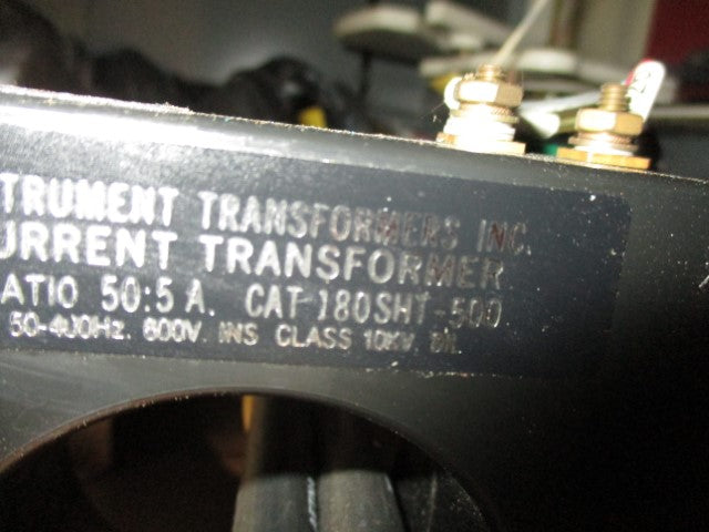 180SHT-500 - Instrument Transformers - 50: 5 Current Transformer