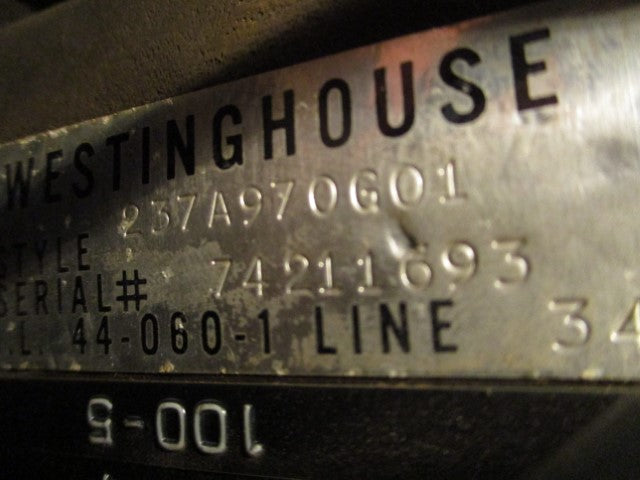 237A970G01 - Westinghouse - Current Transformer