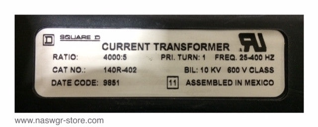 140R-402 ~ Square D 140R-402 Current Transformer