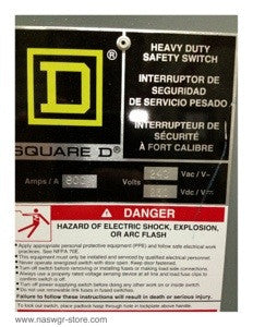 H227N ~ Square D H227N Heavy Duty Safety Switch ~ 800 Amp