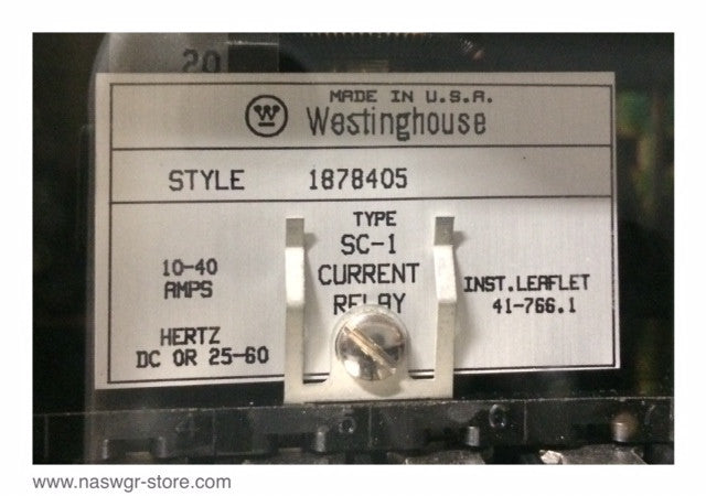 1878405 ~ Westinghouse 1878405 Type SC-1 Current Relay